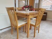 Julian Bowen Newbury Extending Dining Table and 4 chairs
