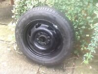 Spare Tyre on wheel - 155/70 R1375T - unused