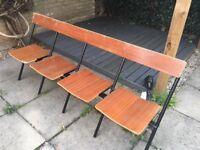 Mid- century folding school/gym chairs