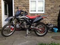 crf250 twin pipe 2007 model one of a kind!