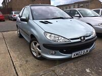 2002 DIESEL PEUGEOT 206 HDI YEARS MOT 110K DRIVES SUPERB