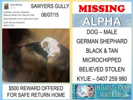REWARD FOR INFORMATION.. Sawyers Gully Cessnock Area Preview