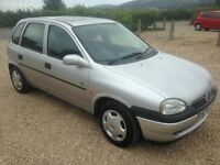 VAUXHALL CORSA 1.4 BREEZE 5 DOOR MANUAL PETROL HATCHBACK IN SILVER 1997 WITH 101K AND 3 MONTHS MOT