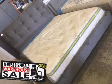 NEW IN BOXES! Fabric upholstered king size bed frame 3 COLOURS