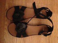 Navy clarks sandals