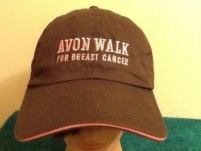 (NEW Avon Walk For Breast Cancer Women's Baseball Hat Cap Brown Pink Adjustable)