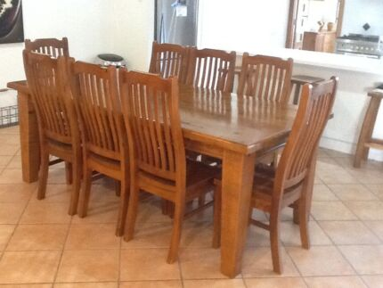 Eureka Street Furniture 9 Piece Dining Suite For Sale