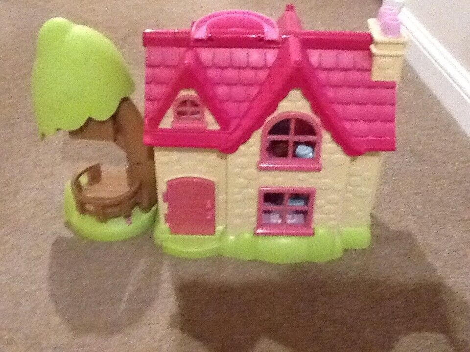 Elc happy land cherry lane cottage, girls pink dolls house, excellent as new condition