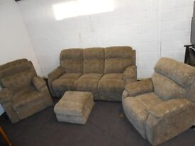 3 +1+1 with matching Footstool with Tilt and Lift Chair DFS