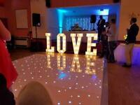Wedding Love letters and starlight Backdrop curtains. £20