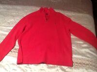 Ralph Lauren red brand new men's fleece xl