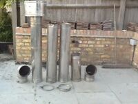 Flue - 180mm stainless single skin