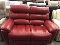 High retail red leather sofa