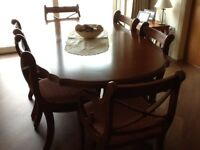 Gola Dining Room Furniture,Table, 6 Chairs, Bureau, Display Cabinet Dresser