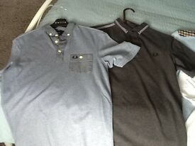 Bundle of men's polo shirts