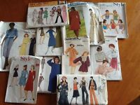 Over 40 original sewing patterns mainly from 1970's