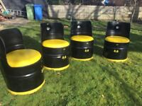 Oil Drum seats - Ferrari themed