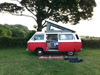 VW campervan T25 1.9 water cooled engine, new roof, MOT - April 18, Sony radio/CD, leisure battery