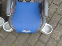 Graco car booster seats with fold-in cup holders on sides-several designs to choose from-£10 each