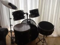 A seven piece Tornado drum kit. Excellent condition. One owner from new.