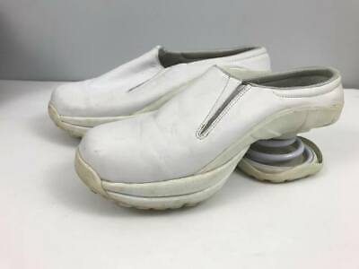 White Leather Z-coil Slip on Sneakers Shoes Womens sz 7
