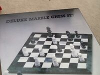 Marble chess set never been out of box immaculate reduced