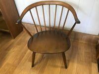 Ercol Rare Cowhorn Fireside Chair