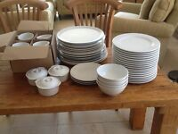 Selection of strong white new and nearly new restaurant grade crockery