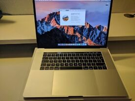 "Apple MacBook Pro 2017 15"" Laptop with Touchbar and Touch ID, 256GB - i7 - 16GB Ram"