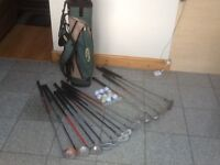 Junior golf set with the golf bag-irons 3,4,5,6,7,8,9 +SW & PW,Putter,drivers 1,3,5+10balls&tees