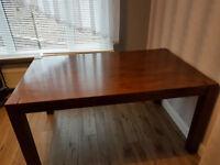 Dining table - dark wood