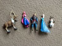 Frozen plastic character toys Sven Olaf Anna Elsa Christoff