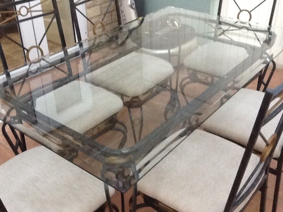 Good Looking Quality Glass Dining Table Six Clean Matching Chairs Custom How To Clean Dining Room Chairs