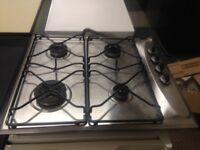 stainless steel 4 burner whirlpool gas hob