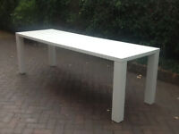 WHITE HIGH GLOSS, ROUBA EXTENDING ( INDOOR DINING) TABLE