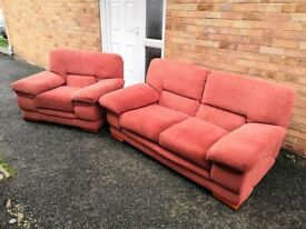two seater sofa and armchair / FREE DELIVERY