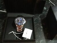 Men's Movado blue stainless steel watch