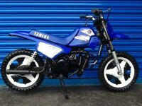 YAMAHA PW 50 PW50 CHILDRENS TWO STROKE MOTORCYCLE ULTRA LOW USE SUPER SPOTLESS EXAMPLE
