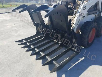 72 Hd All 12 Root Grapple Bucket Skid Steer Quick Connect