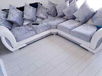 👑BRAND NEW COUCHES👑 SHANNON CRUSH VELVET CORNER & 3+2 SETTER SOFA AVAILABLE NOW