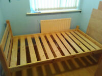 Small single Solid pine bed with under bed storage