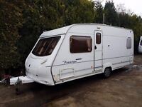 Ace Prestige 55 4 berth caravan FIXED BED VGC Awning, Great Family Caravan !
