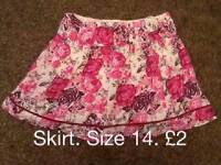 Size 14 floral skirt