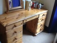 Pine desk available