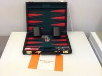 NEW GIBSONS GAMES BACKGAMMON SET