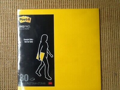 3m Post-it Big Pad Sticky Note 11 X 11 30 Unruled Sheets Bright Yellow New