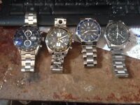 WANTED GENUINE ROLEX OMEGA TAG HEUER BREITLING WATCHES ETC