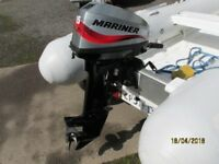 Mariner 15hp outboard motor boat engine 2006 for inflatable rib dinghy tender