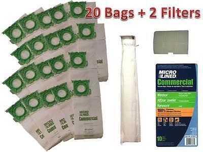 Sebo, Windsor Service Box Vacuum Bag and Filter Kit. 20 Bags + 2 Filters
