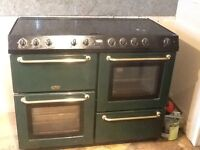 Belling cookcentre electric range cooker and matching extractor hood